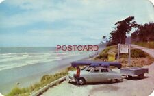 PACIFIC OCEAN AND OLYMPIC HIGHWAY near Kalalock, Wash. late 1940's Dodge?
