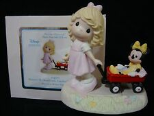 yn Precious Moments-Girl Pulling Minnie Mouse/Wagon-Wherever The Road Leads