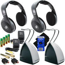 Sennheiser RS120 On-Ear Wireless RF Headphones w/Charging Dock+ 6pc kit (2 pack)