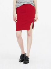 NWT Armani Exchange A|X Sweater knit skirt Merino Wool Red sz S / M