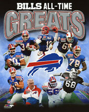 BUFFALO BILLS All-Time Greats Glossy 8x10 Photo Bruce Smith Jim Kelly Andre Reed
