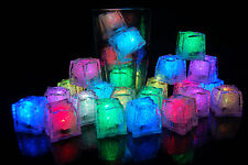 24 Pack LiteCubes Brand MultiMode Rainbow LED Light up Ice Cubes