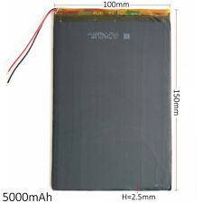 3.7V 5000mAh ultra thin Lipo Polymer Battery F Laptop PDA Tablet PC PAD 25100150