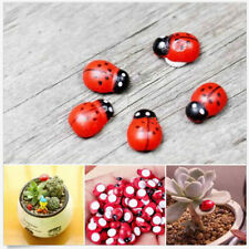 10pcs Mini Ladybug Beatles Garden Ornaments Scenery Craft For Plant Pot FT AU