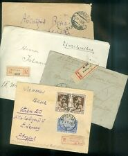 RUSSIA : 4 covers. 3 are Registered between 1922-1933 to Famous persons