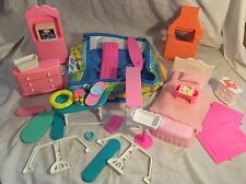 Vintage Barbie Lot 1980's Play Set Parts Furniture Accessories Large Lot
