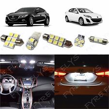 7x White LED lights interior package kit for 2010-2013 Mazda 3 MT3W