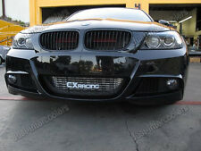 CXRacing  24x12x3 Intercooler Kit + Shroud For 2011+ BMW E90 E91 E92 N55 Black