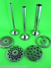 7 pc. #32 COMBO SET  Meat Grinder Sausage Stuffer Stuffing Tubes & Discs Plates