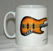 Guitar Mug. Jaco Pastorius' 1962 Fender Jazz 'Bass of Doom' illustration.