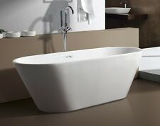 aM771 59 Inch SMALL MODERN FREE STANDING BATHTUB & FAUCET bath tub clawfoot