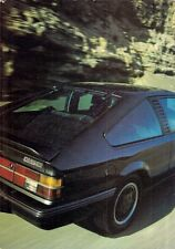 Opel Monza 3.0 GSE 1984-85 UK Market Sales Brochure