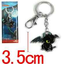 How To Train Your Dragon Toothless Pendant Metal Key Ring Chain NEW