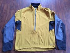 Men's Rei 3/4 Zip Jacket/ Shell Pullover / Mustard Yellow /Gray M Medium running