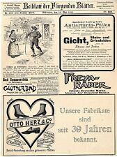 Apotheker Ludwig Sell & Co. München Freya-Fahrradwerke Fanter& Co.Champagner1899