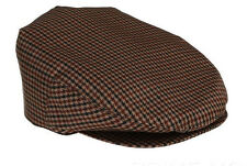 NEW PRADA LUXURY WATERPROOF HOUNDSTOOTH PRINT BROWN CABBIE NEWSBOY HAT CAP M