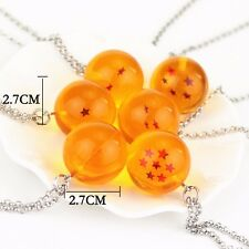 Anime Dragon Ball Z Cosplay DBZ Crystal Ball Stars Necklace Chain 1pc RamdonShip