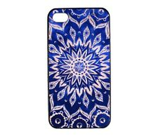 Indian Mandala Blue Floral Pattern Hard Case Cover for Apple iPhone 4 4S 4G 4th