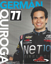 2013 GERMAN QUIROGA NET10 WIRELESS #77 NASCAR CAMPING WORLD TRUCK POSTCARD