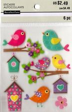 MICHAELS Recollections BIRDS & BIRD HOUSES Stickers TREE FLOWERS SPRING
