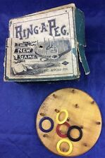 Vintage Antique Ring A Peg, The New Game Toy In Box E.I.H. EIH