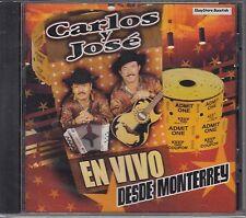 Carlos Y Jose En Vivo Desde Monterrey CD Nuevo Sealed