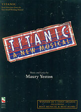 """TITANIC"" PIANO/VOCAL SELECTIONS/CHORDS BROADWAY MUSIC BOOK RARE OUT OF PRINT!!"