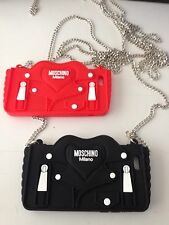 Moschino Logo iPhone 6/6s (4.7 Inch) Jacket Case With Chain/Black/Red-New In Box