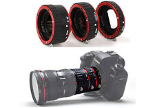 Red Auto Focus Macro Extension Tube Ring for Canon EOS 5D III 60D 70D 700D 1100D
