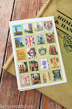 LONDON Stickers 7321 Lovely TinyStamp kawaii craft scrapbooking postage stamps