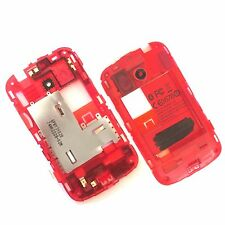 100% Genuine HTC Desire C rear chassis housing+camera glass+Antenna Red Bezel