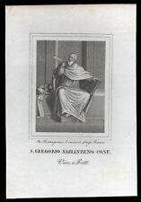santino incisione 1800 S.GREGORIO DI NAZANZIO