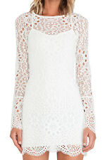 NWT! FOR LOVE & LEMONS Love Bird Lace Dress OFF WHITE Sold Out! XS $259