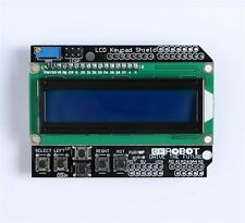1602 Lcd Board Keypad Shield Duemilanove Robot For Arduino Blue Backlight New I