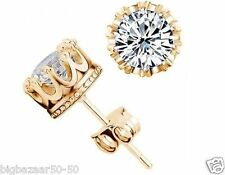 Luxury Gold Plated AAA Swiss Zircon Stud Earrings Design 2