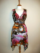 TRAFFIC PEOPLE DRESS, ORANGE/BROWN, SIZE SMALL - 8/10 , BRAND NEW WITH TAGS