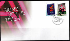 Australia 2015 Signs of the Times FDC S/A Stamps, MNH