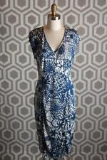 NWT Tory Burch  Matte Jersey Printed Dress Small S $395 Baltic Sea Dream Catcher