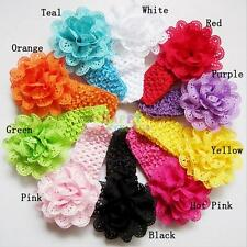 10pcs Kids Baby Girl Lace Flower Toddler Headband Hair Band Headwear Accessories
