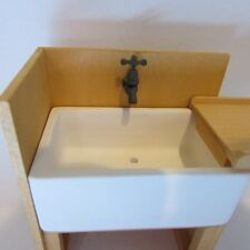 Kitchen Sink Unit ~ Dolls House Miniature ~ 1/12 scale