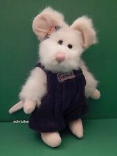 """COLBY S. MOUSKI WHITE 6.5"""" PLUSH MOUSE by BOYDS BEARS and FRIENDS"""