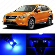 6 x Ultra Blue LED Interior Lights Package For 2013 and Up Subaru XV Crosstrek