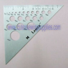 "6"" ALUMINUM TRIANGLE RULER 45-45-90 DEGREES 20 HOLES"