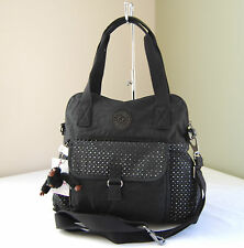 Kipling HB6450 Pahneiro Perforated Medium Handbag Black Eyelet