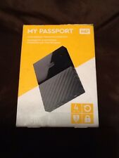 WD 4TB My Passport Portable External Hard Drive USB 3.0 WDBYFT0040BBK (Black)