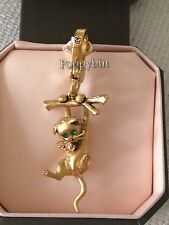 RARE! BRAND NEW JUICY COUTURE CLIMBING CAT BRACELET CHARM IN TAGGED BOX