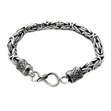 "NEW Men's 8.5"" Genuine 7mm Thai Solid Silver Bracelet Heavy 56g Stamped 925"