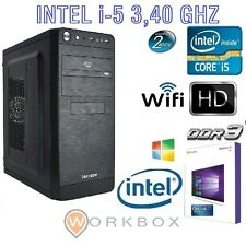 PC DESKTOP INTEL I5 QUAD CORE I5-4460 3,40 GHZ WINDOWS 10 PRO WIFI HD 1TB 8GB