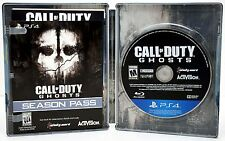 NEW Sony PS4 Call of Duty GHOSTS Steelbook Video Game & DLC Bundle COD hardened