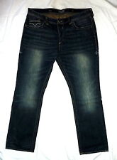 Affliction Ace Mens Size 40/34 Rock V Venom Slim Straight Leg Jeans 100% Cotton